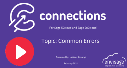 Connections Errors Help & Advice