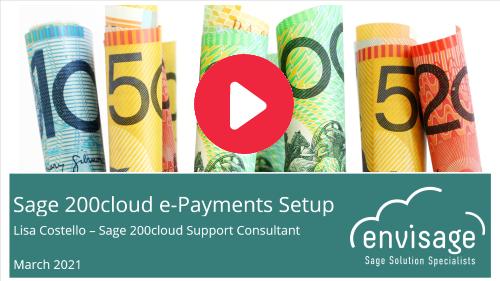 Set Up Sage 200cloud e-Payments